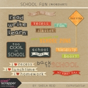 School Fun Word Art Kit