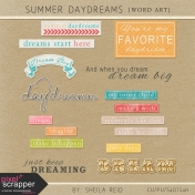Summer Daydreams Word Art Kit
