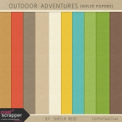 Outdoor Adventures Solid Papers Kit