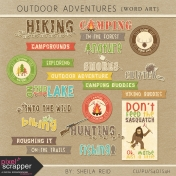 Outdoor Adventures Word Art Kit