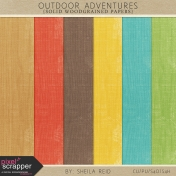 Outdoor Adventures Solid Woodgrained Papers Kit