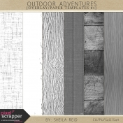 Outdoor Adventures Overlay/Paper Templates 01 Kit