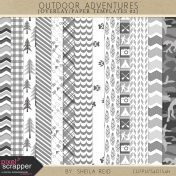 Outdoor Adventures Overlay/Paper Templates 02 Kit