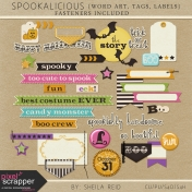 Spookalicious Word Art, Tags, And Labels Kit