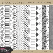 Spookalicious Overlay/Paper Templates Kit