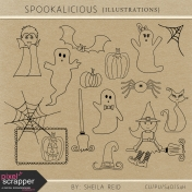 Spookalicious Illustrations Templates Kit