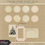 Vintage Paper Styles Set 01