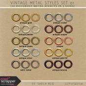 Vintage Metal Styles Set 01