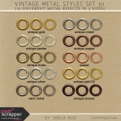 Vintage Metal Styles Set 01