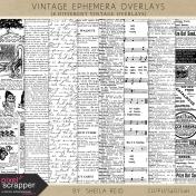 Vintage Ephemera Overlays Kit