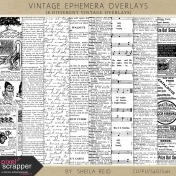 Vintage Ephemera Overlays Kit