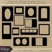 Vintage Frame Shapes Set 01