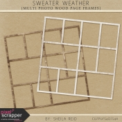 Sweater Weather Multi Photo Wood Page Frames Kit
