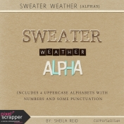 Sweater Weather Alphas Kit