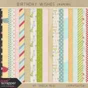 Birthday Wishes Papers Kit