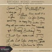 Birthday Wishes Sentiments Kit