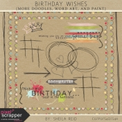 Birthday Wishes Doodles, Word Art, And Paint Kit