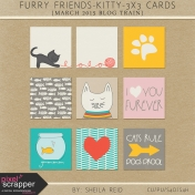 Furry Friends- Kitty March 2015 Blog Train 3x3 Cards Kit