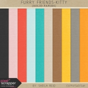 Furry Friends- Kitty Solid Papers Kit