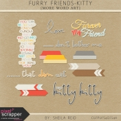 Furry Friends- Kitty Word Art Kit