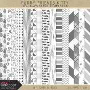 Furry Friends- Kitty Overlay/Paper Templates Kit