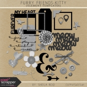 Furry Friends- Kitty Element Templates Kit