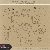 Furry Friends- Kitty Illustrations 01 Kit