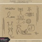 Furry Friends- Kitty Illustrations 02 Kit