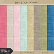 Shine Burlap Papers Kit