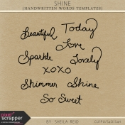 Shine Handwritten Words Templates Kit
