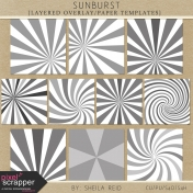 Sunburst Layered Overlay/Paper Templates Kit