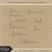 Jane Handwritten Metal Wordart Kit