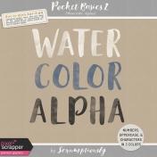 Pocket Basics 2 Watercolor Alphas