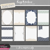 Cozy Kitchen Fabric Journal Cards Kit