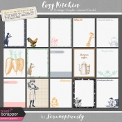 Cozy Kitchen Vintage Graphic Journal Cards Kit