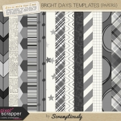 Bright Days Template Papers Kit