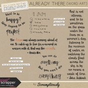 Already There Word Art Kit
