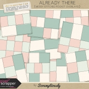 Already There Messy Stitched Pocket Page Overlays Kit