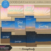 Good Day Skyline 4x6 Journal Cards