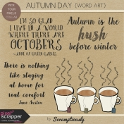 Autumn Day Word Art