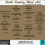 North Country Word Art Kit