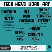 Tech Head Word Art Kit