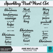 Sparkling Noel Word Art