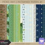 Picnic Day- Patterned Papers #1