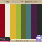 Family Traditions- Solid Papers