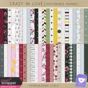 Crazy in Love- Patterned Papers