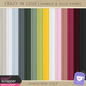 Crazy in Love- Sparkle & Solid Papers