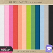 Happy Easter- Solid Papers