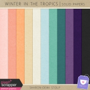 Winter in the Tropics- Solid Papers