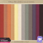 Fall in Love- Solid Papers